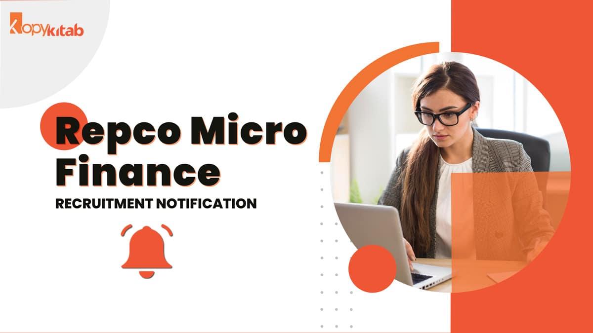 Repco Micro Finance Recruitment