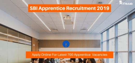 SBI Apprentice Recruitment 2019