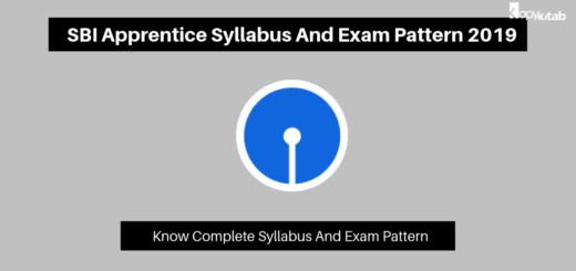 SBI Apprentice Syllabus And Exam Pattern 2019