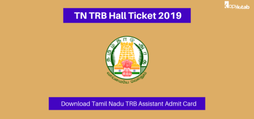 TN TRB Hall Ticket 2019