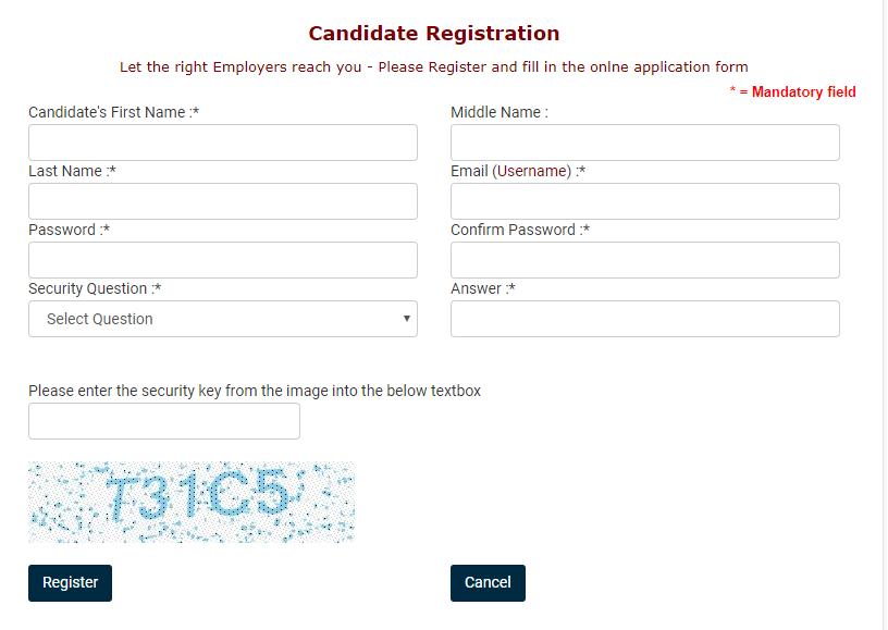 UGC Academic Job Portal Registration form