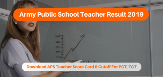 Army Public School Teacher Result 2019