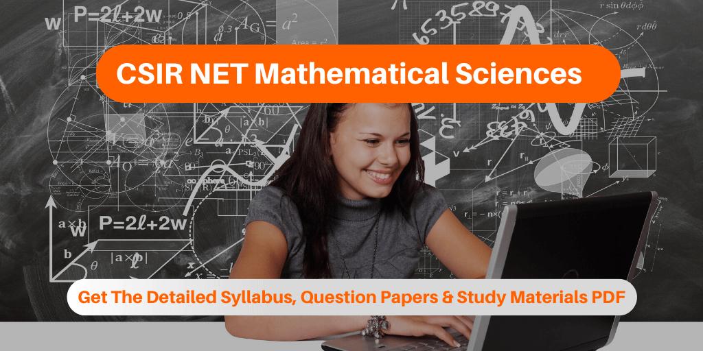 CSIR NET Mathematical Sciences