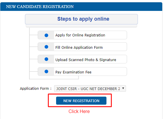CSIR NET New registration