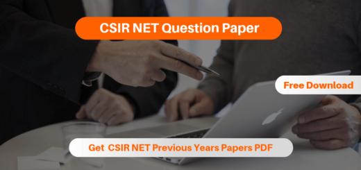CSIR NET Question Paper