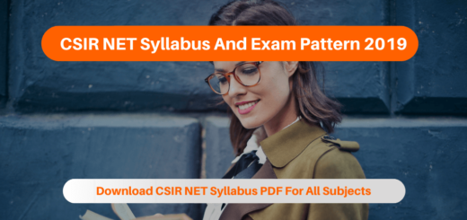 CSIR NET Syllabus And Exam Pattern 2019