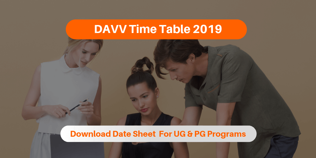 DAVV Time Table 2019