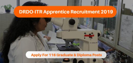 DRDO ITR Apprentice Recruitment 2019