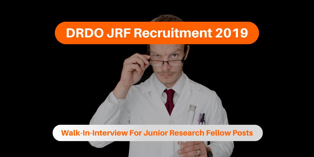 DRDO JRF Recruitment 2019