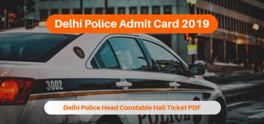 Delhi Police Admit Card 2019