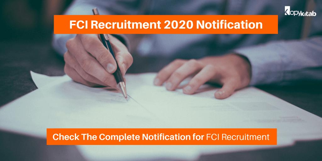 FCI Recruitment 2020 Notification