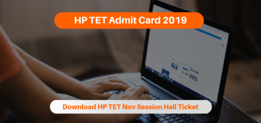 HP TET Admit Card 2019