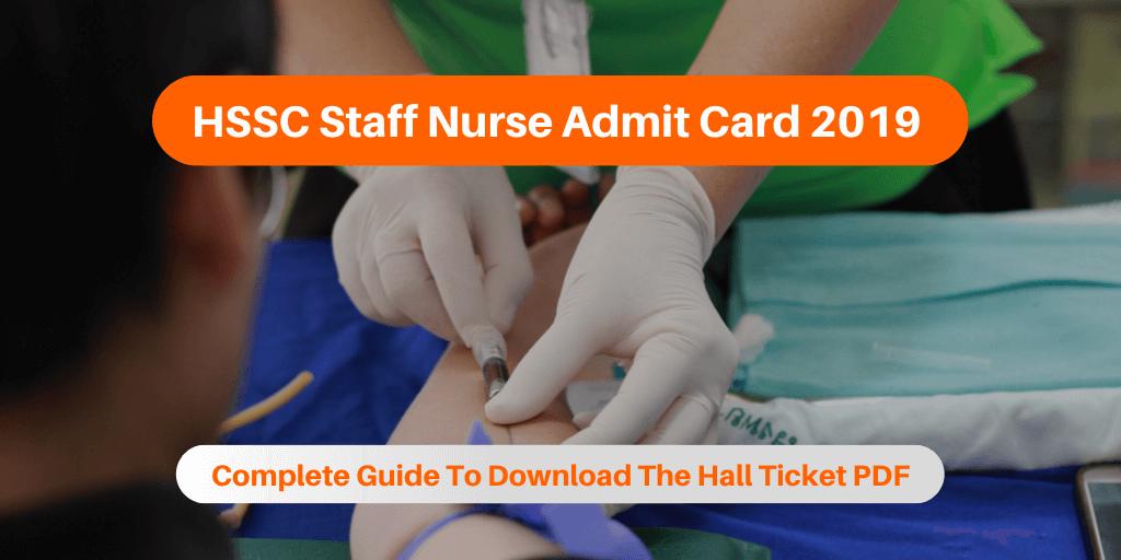 HSSC Staff Nurse Admit Card 2019