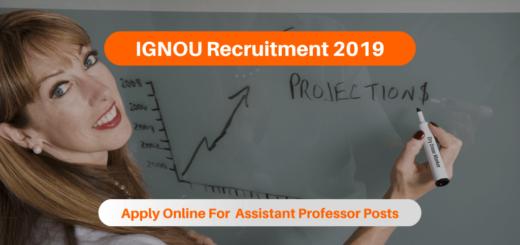 IGNOU Recruitment 2019