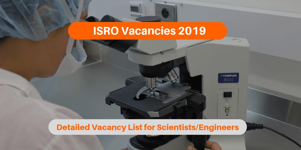 ISRO Vacancies 2019