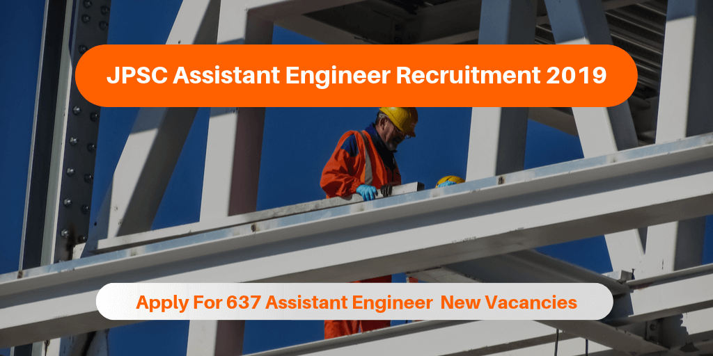 JPSC Assistant Engineer Recruitment 2019