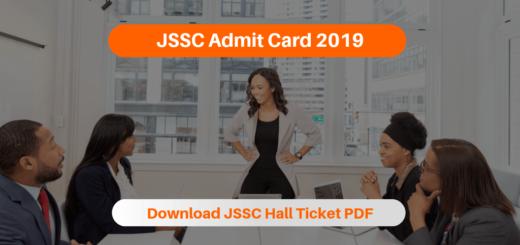 JSSC Admit Card 2019