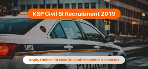 KSP Civil SI Recruitment