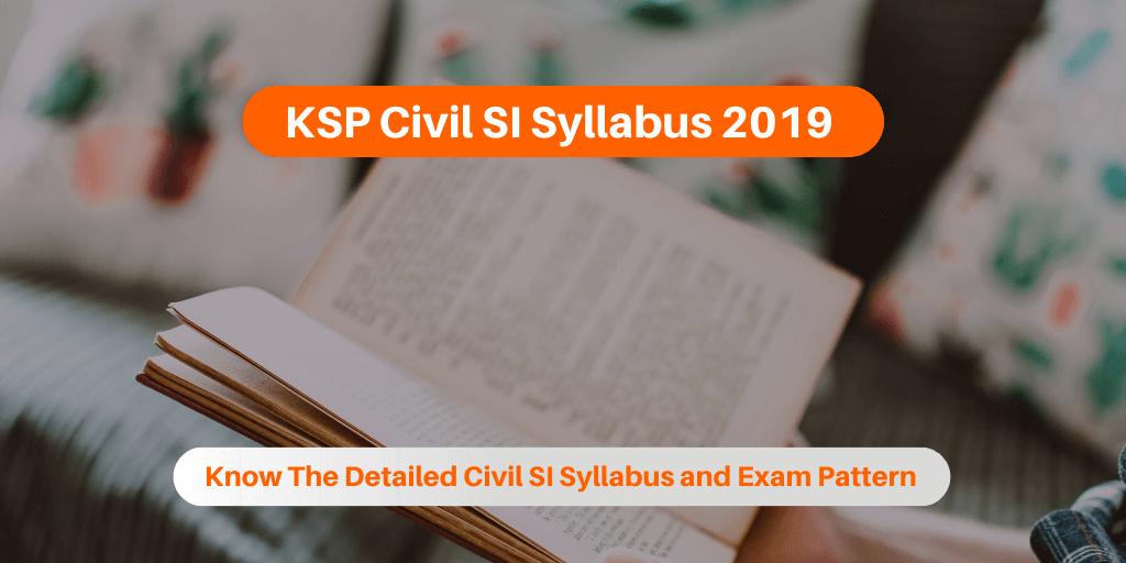 KSP Civil SI Syllabus 2019
