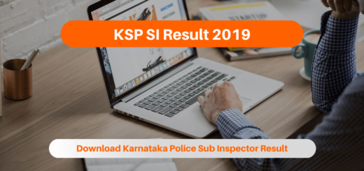 KSP SI Result 2019
