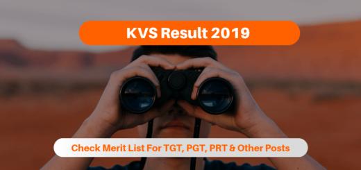 KVS Result 2019