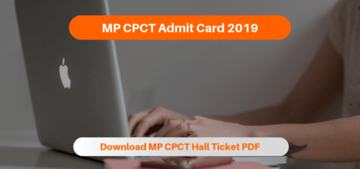 MP CPCT Admit Card 2019