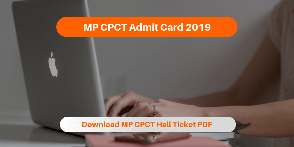 MP CPCT Admit Card 2019