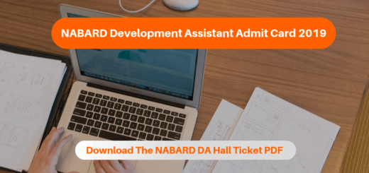 NABARD Development Assistant Admit Card 2019