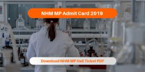 NHM MP Admit Card 2019