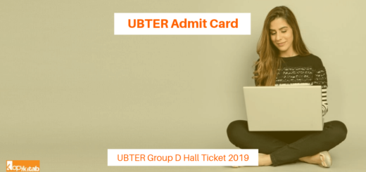 UBTER Admit Card