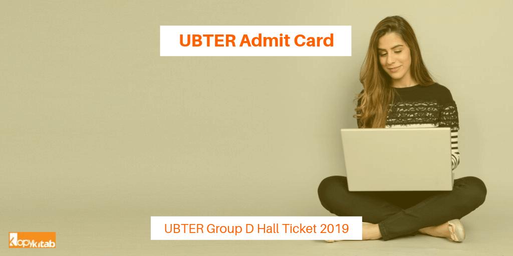 UBTER Admit Card