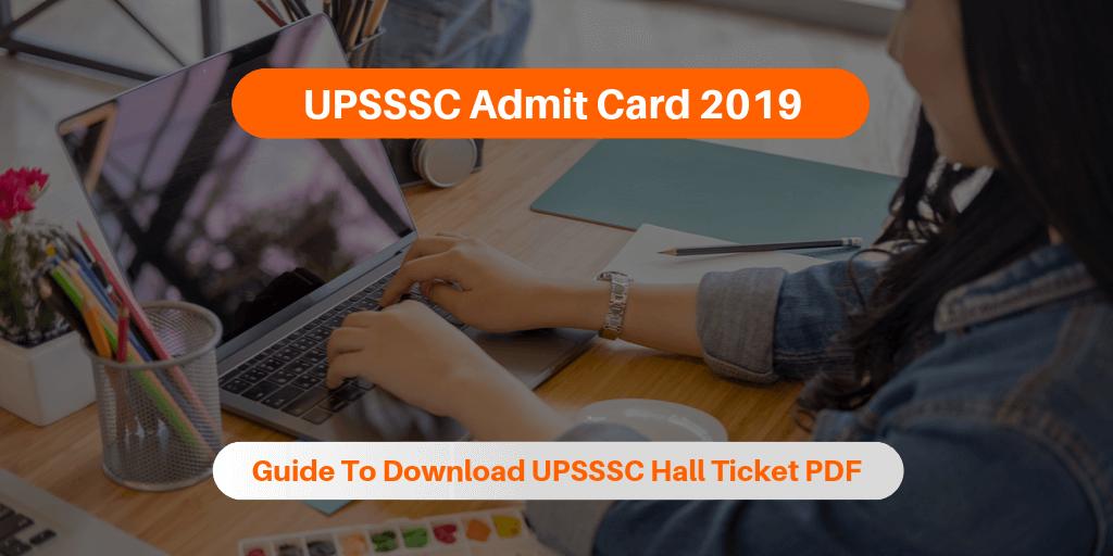 UPSSSC Admit Card 2019