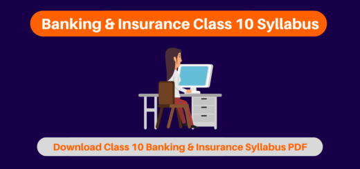 Banking & Insurance Class 10 Syllabus