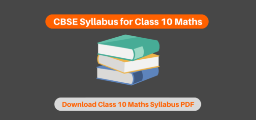 CBSE Syllabus for Class 10 Maths