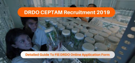 DRDO CEPTAM Recruitment 2019