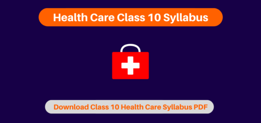 Health Care Class 10 Syllabus