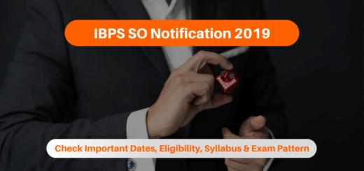 IBPS SO 2019 Notification