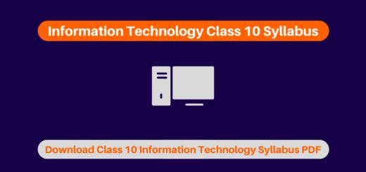Information Technology Class 10 Syllabus