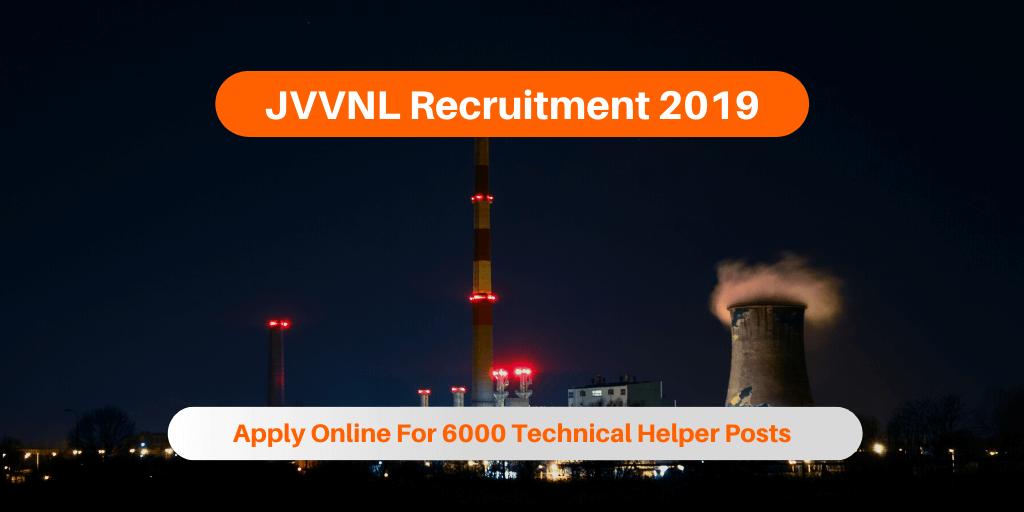 JVVNL Recruitment 2019
