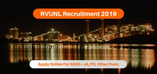 RVUNL Recruitment 2019