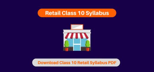Retail Class 10 Syllabus