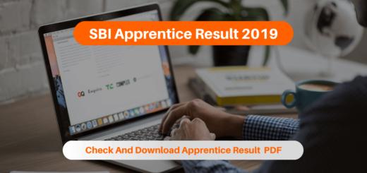 SBI Apprentice Result 2019