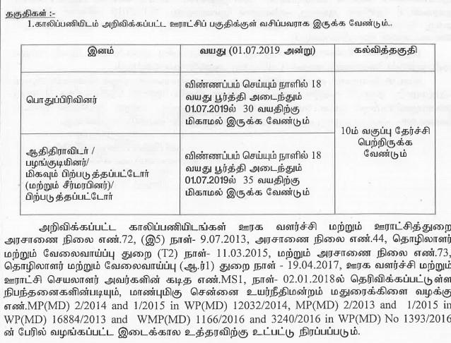 TNRD eligibilty criteria