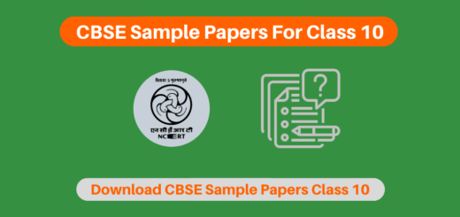 CBSE Sample Papers For Class 10