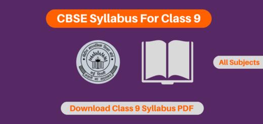 CBSE Syllabus For Class 9