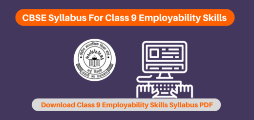 CBSE Syllabus For Class 9 Employability Skills