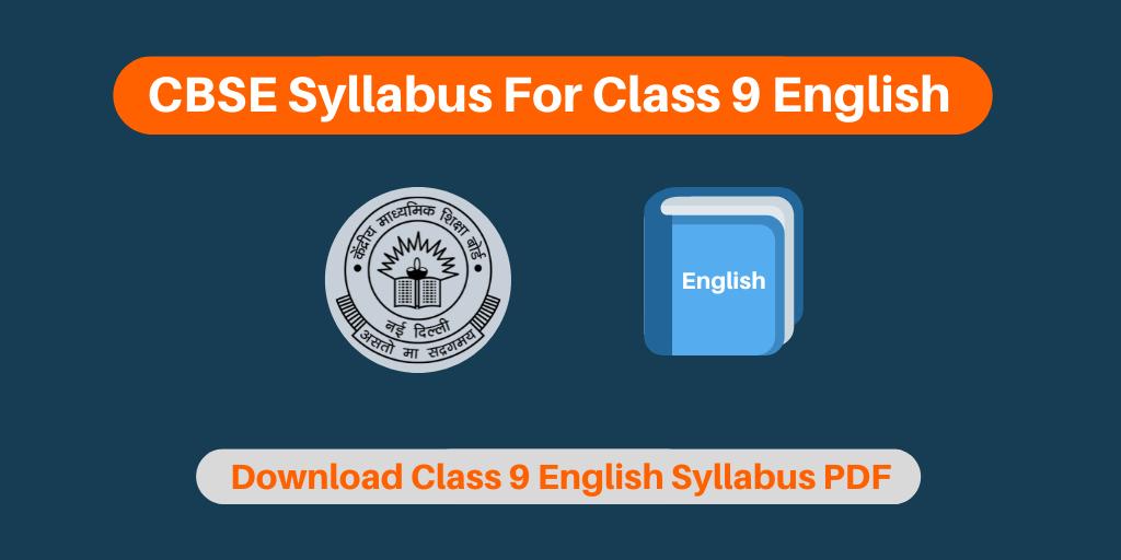 CBSE Syllabus For Class 9 English
