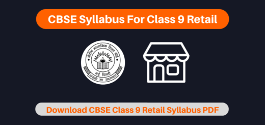 CBSE Syllabus For Class 9 Retail