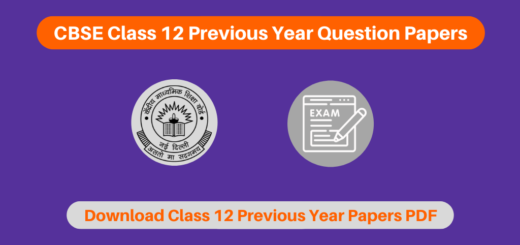 CBSE Class 12 Previous Year Question Papers