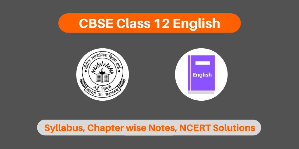 CBSE Class 12 English